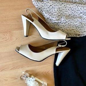 Size9 Pierre Dumas Peep-toe Pumps
